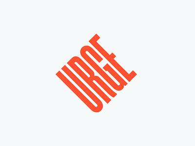 Urge agency design identity brand orange logo