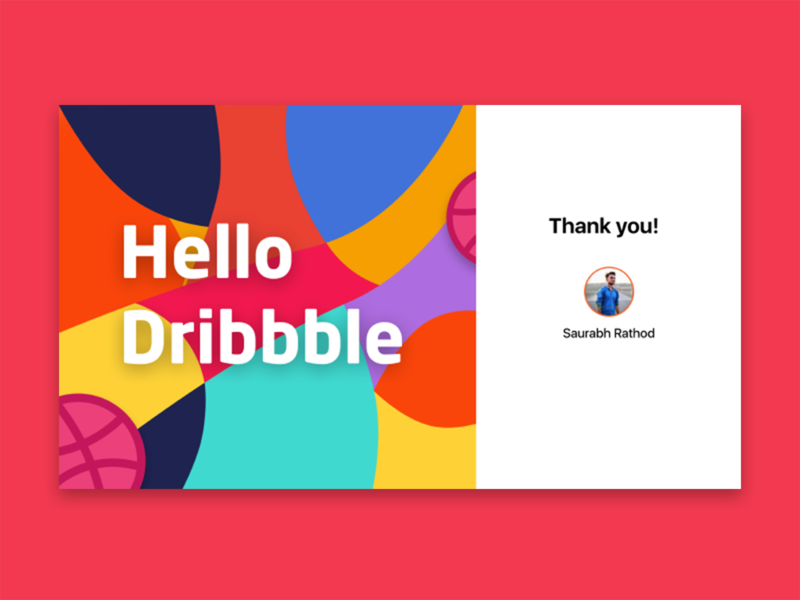 Dribbble Hello