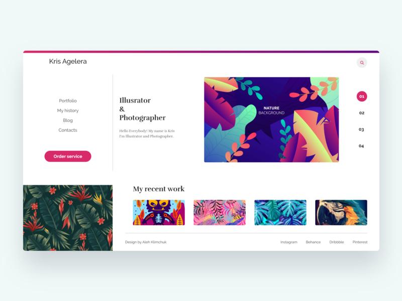 Website portfolio ux awesome design page web designer dashboard interface design artboard illustration ui vector webdesign ux design graphic design adobexd uiux ui design design