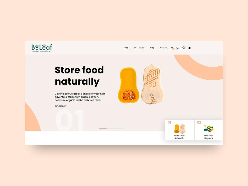 Organic Website Creative Header