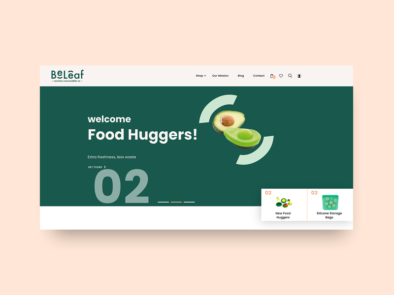 eCommerce Creative Header for a Sustainable Store