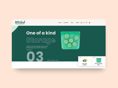 Creative Website Header for eCommerce