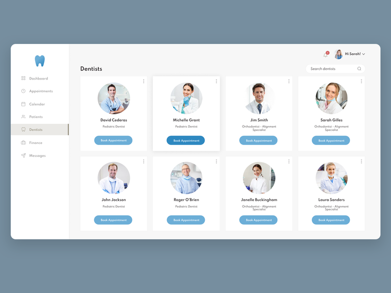 Dental Clinic Dashboard Interface