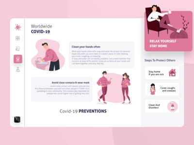 Corona virus dashboard preventions
