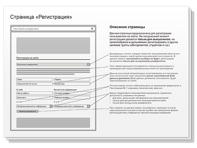 Technical specifications usability specifications
