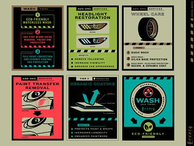 Legacy Auto Spa 01 infographic icons illustration branding auto