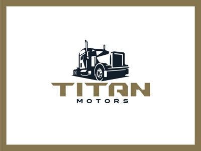 Titan Motors icon techy logotype logo branding semi truck