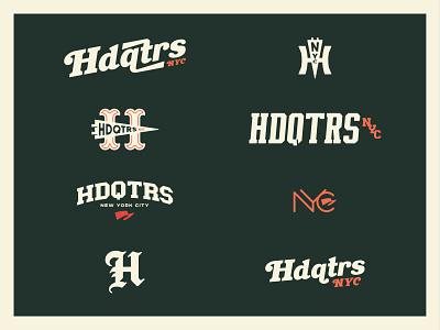 HdqtrsNYC Capsule vintage logotypes icon logotype typography