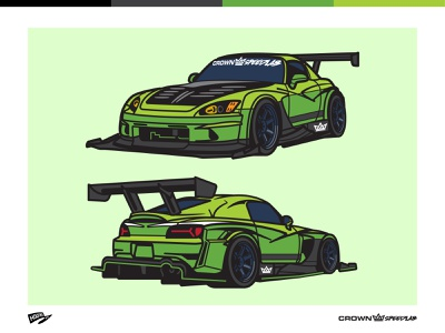 S2K honda automotive cartoon illustration car
