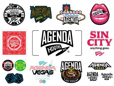 Agenda X HdqtrsNYC® 2021 illustration design icon branding logotype type graphic logo badge