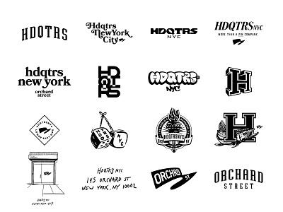 hdqtrsnyc_graphics_set illustration design icon branding logotype type graphic logo badge