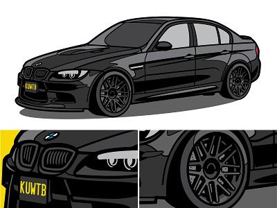BMW E90 M3 bmw cars illustration design graphic