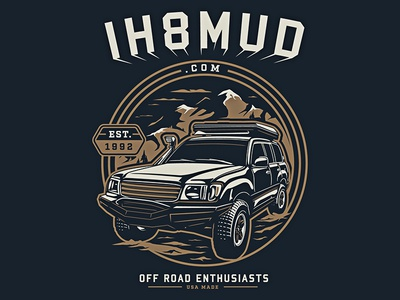 Ih8mud graphic badge scenery land cruiser toyota truck offroad