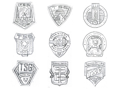 TSG Badge Rejects building woods outdoor city banner logo badge rejects