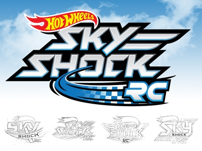 HW Sky Shock Reject  branding toys logo race car racing flying prelim reject loser