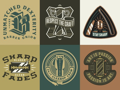 WIP Barbershop Inspired Graphics