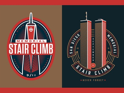 Memorial Stair Climb world trade building concept rejects stair climb twin towers