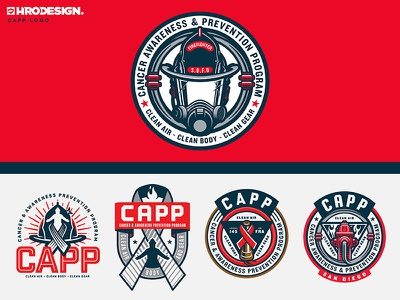 CAPP Logo helmet icon type logotype logo service fireman firefighter