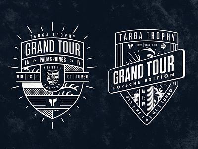 TT Grand Tour PE street sign porsche graphic badge grand tour event racing