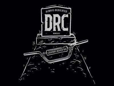 DRC Legends Never Die mx moto doc handlebar grave reject