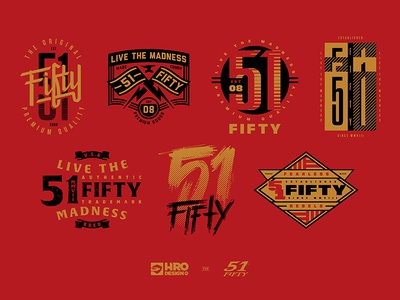 51Fifty Graphics tees typography type lockup badges graphics