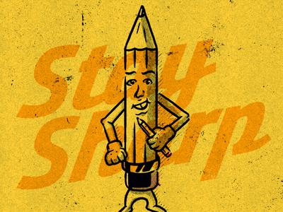 Stay Sharp Pencil Guy