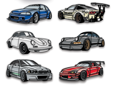 Car Illustration Pins racing cars mock-up vector illustrator photoshop
