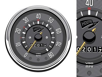 1960's VW Bus Speedometer