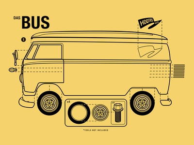 VW Bus Manual Style Graphic