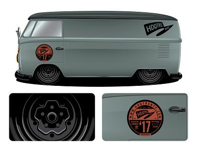 HDQTRSNYC VW Pin Bus vector illustration illustrator vw bus