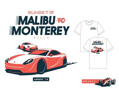 Malibu To Monterey 03 car rally branding cars illustration
