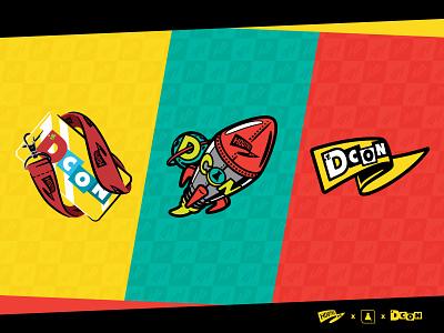 DCON HDQTRS illustration badge designer con dcon graphics