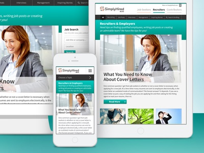 Simply Hired Blog blog web design responsive design jobs recruiters mobile first