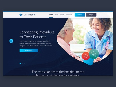 CURA Patient Website Design web healthcare design brand idenity website branding health ux clean ui