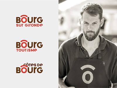 BOURG - Branding visual identity bordeaux emotion totem territory city identity redesign rebranding symbol logo branding