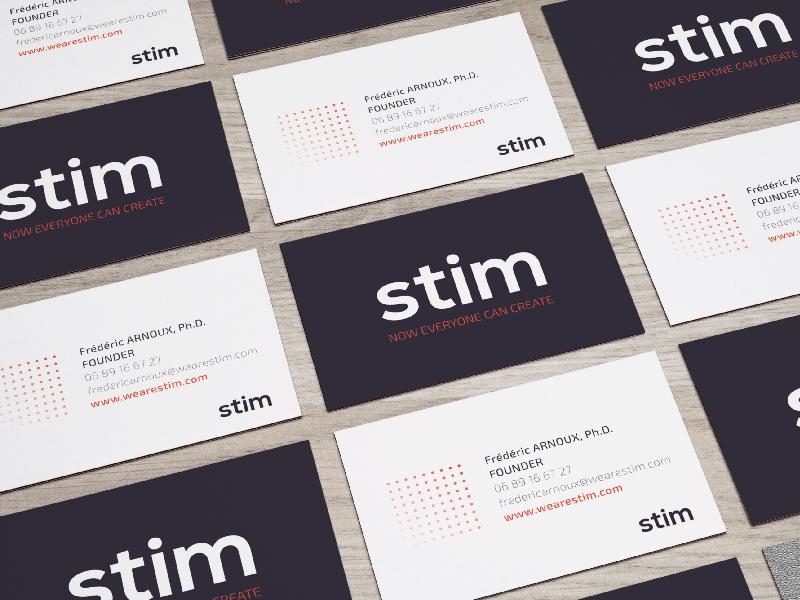 STIM - Business Cards mockup logo science innovation startup cards business print visual identity