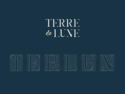 TERRE DE LUNE - Custom font luxury stars custom typography design logo branding identity