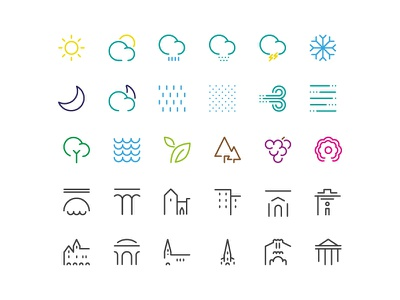 LIBOURNAVELO - Pictograms libourne city bicycle cycle nature places weather pictogram graphism