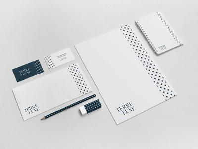 TERRE DE LUNE - Print pattern moon stars corporate business print identity graphism