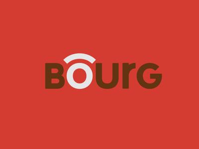BOURG - Branding symbol city city branding logotype branding identity graphism design