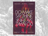 Do Make Say Think gig poster - Toronto 2012