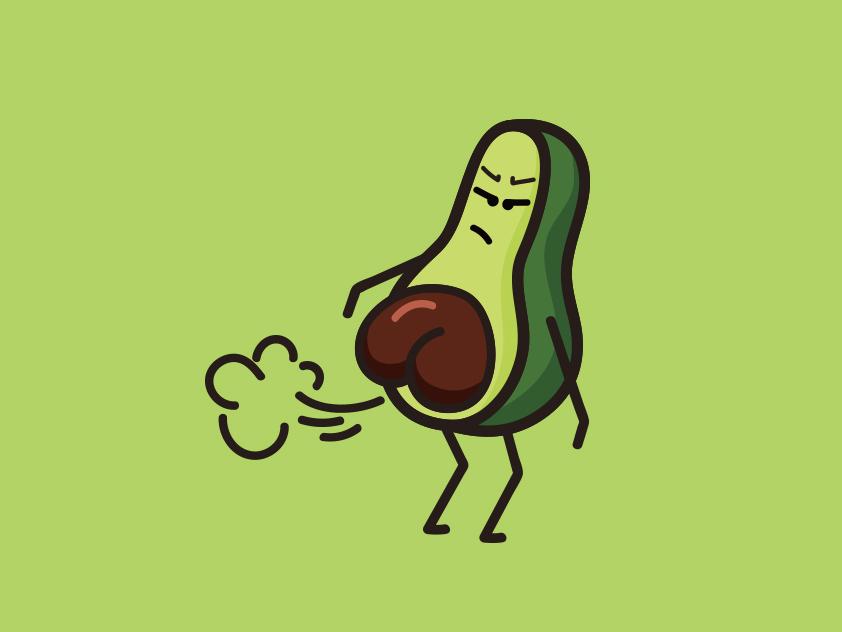 Avocado Emoticon illustration