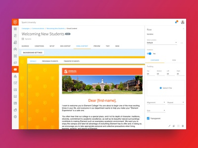 Element451 - Campaigns sketch material design dashboard app design ux ui flat web app crm dashboad analytics campaignmonitor campaigns