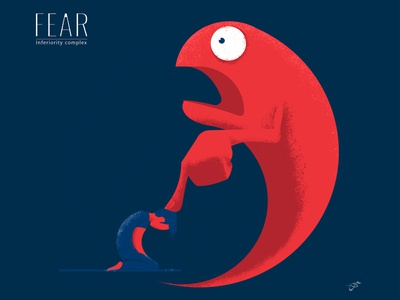 Fear is what keeps me down fear visrijami illustration drawing