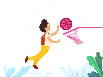 Dribble Player dribble player art illustraor vector design illustration visrijami drawing