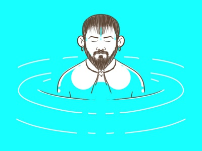 holy bath kumbhamela ganga photoshop dribble art illustration visrijami drawing
