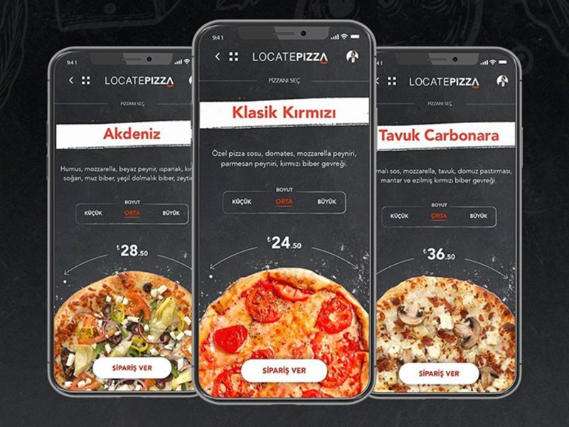 PIZZA MOBILE APP app product design ui ux like dribbble mobile design mobile app mobile ui pizza