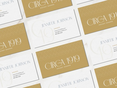 Circa 1919 – Business Cards graphic design lettering business card logo brand identity branding