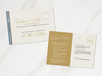 Circa 1919 – Thank You Cards shipping online business retail thank you card design brand identity logo branding