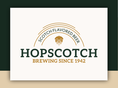 Hopscotch - Logo Concept alcohol scotch hops beer abstract typographic logo brand typography branding identity logo